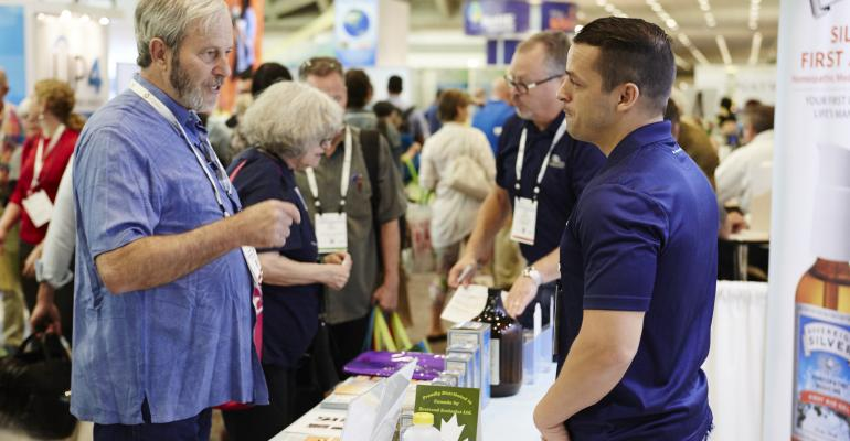 networking at Natural Products Expo