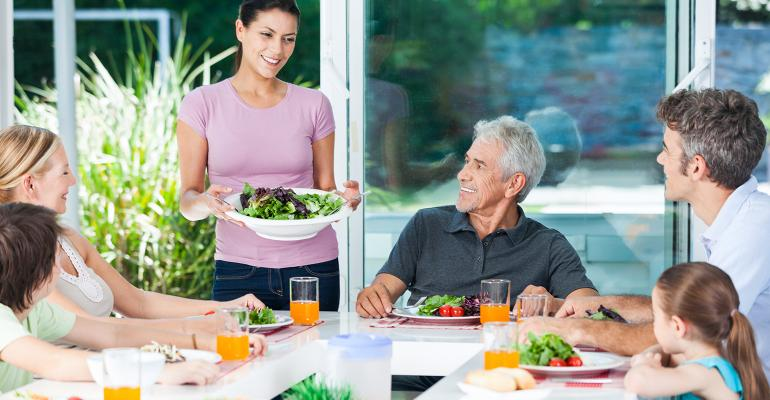connected generations share food and climate values