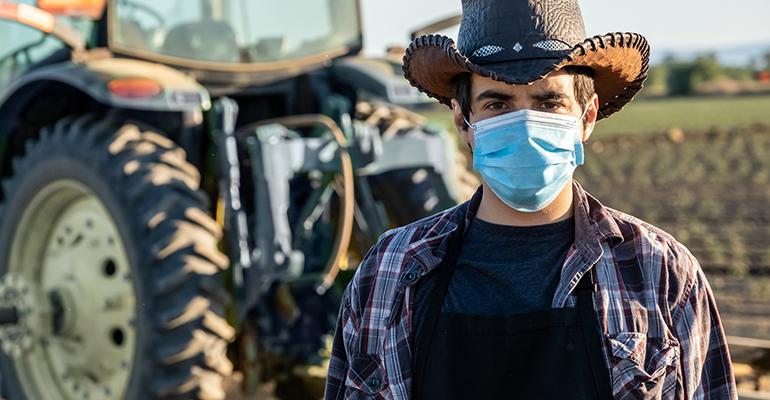 farmer covid-19 mask
