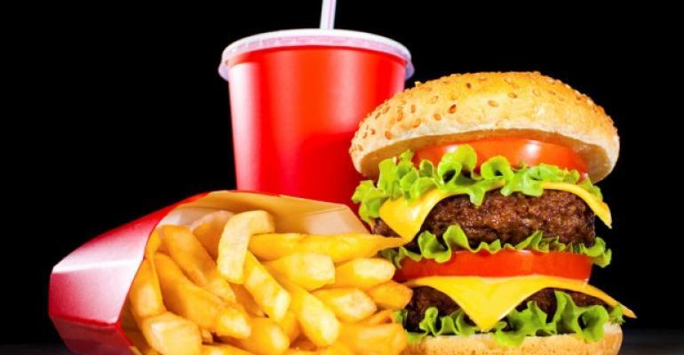 fast food burger fries milkshake