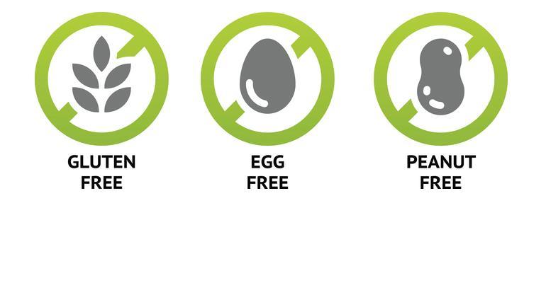 gluten free egg free peanut free food allergies