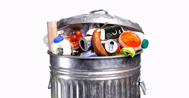 food trash can