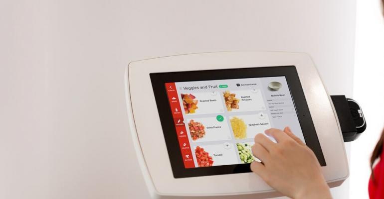 Eatsa ordering tablet