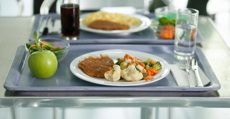 local hospital food on tray