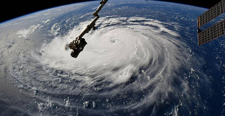 Hurricane Florence as seen from the ISS Sept. 10, 2018