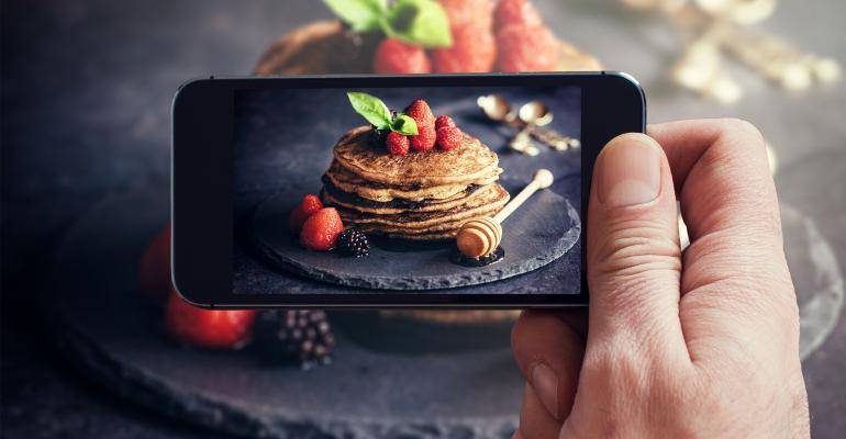 Instagram pancake photo