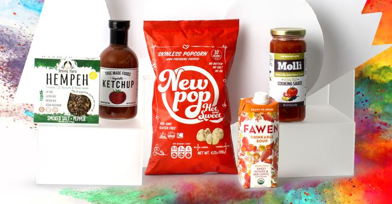 innovative natural food products such as New Pop, Hempeh, Fawen, Molli take center stage