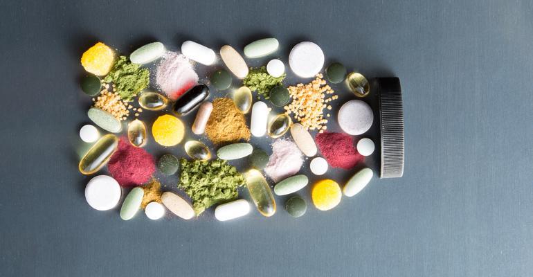 Inside the Bottle supplements bottle art