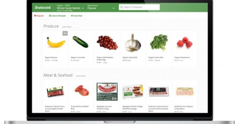 instacart grocery shopping online