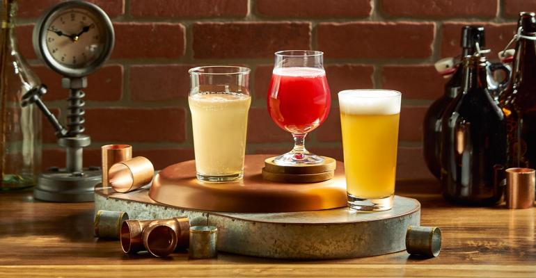 selection of kombucha beverages