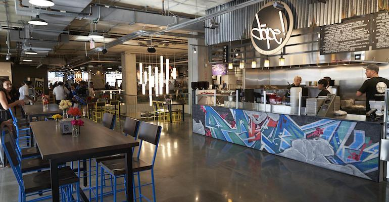 Kroger On The Rhine Eatery food hall offers Indoor and outdoor seating accommodate up to 200 customers