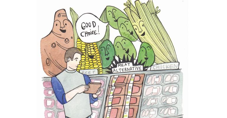 consumers choosing meat alternatives