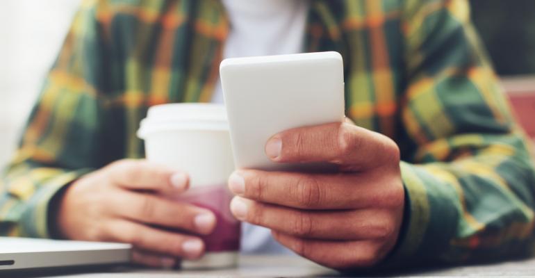 millennial phone coffee