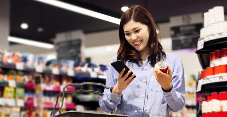 Millennial shopper researching food