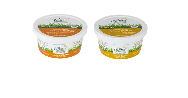 churned organic grass-fed butter
