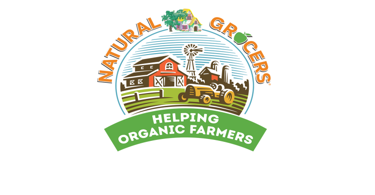 Natural Grocers Helping Organic Farmers logo