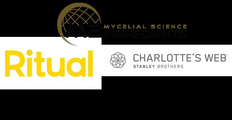 Ritual, Charlotte's Web and M2 Ingredients logos