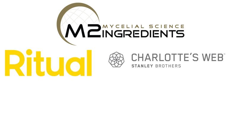 Ritual, Charlotte's Web and M2 Ingredients logos