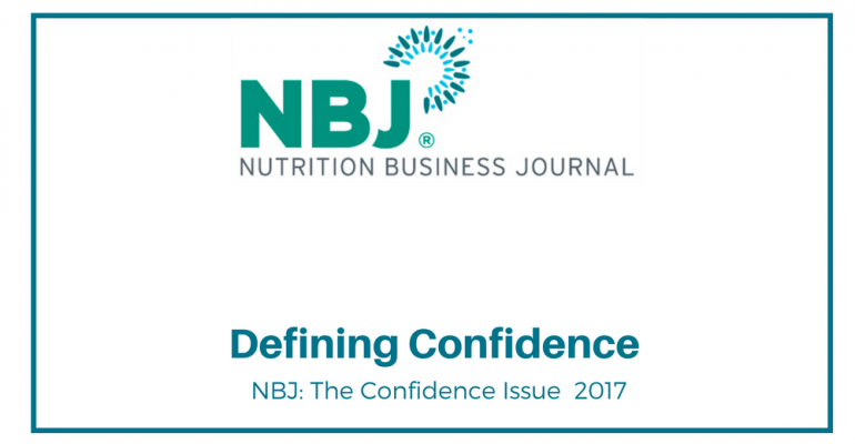 Nutrition Business Journal industry quotes on confidence
