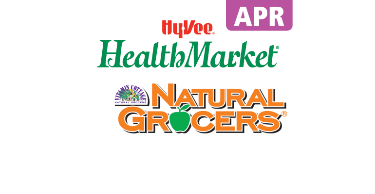 Hy-vee and Natural Grocers logos