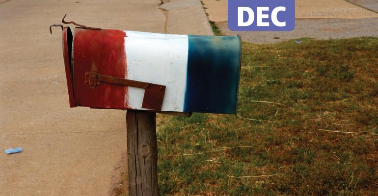 American flag mailbox