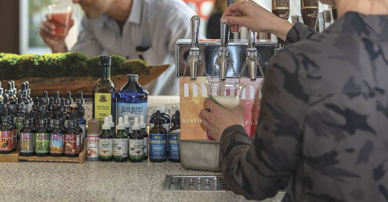Erewhon Organic Grocer and Café calls the Tonic & Juice bars the heart and soul of its five locations.