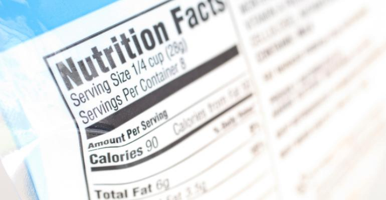 Nutrition Facts panel on packaged food
