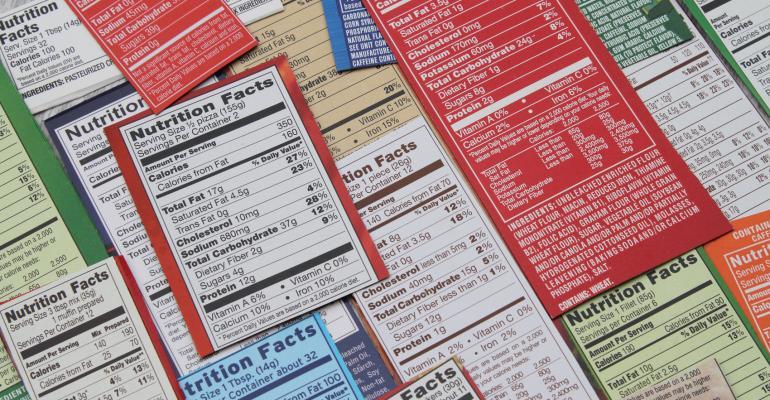 FDA nutrition labels