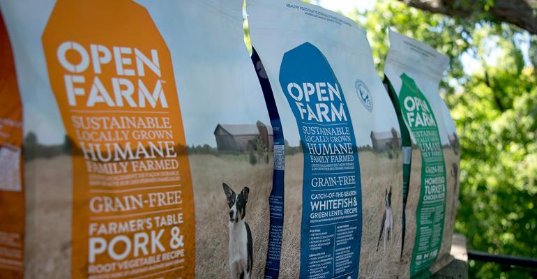 Open Farm dog food bags
