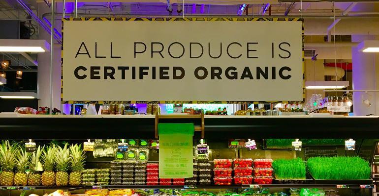 organic produce at MOM's Organic Market