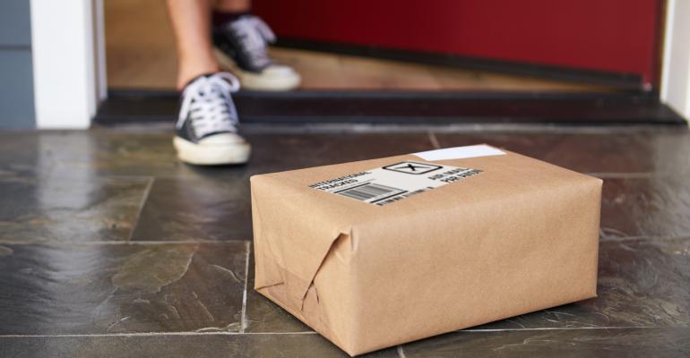 Package delivered to doorstep