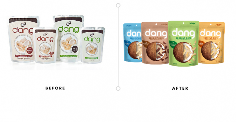 Dang Foods coconut chips redesign