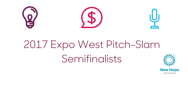 2017 Expo West Pitch-Slam Semifinalists