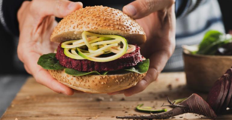 plant-based beet burger