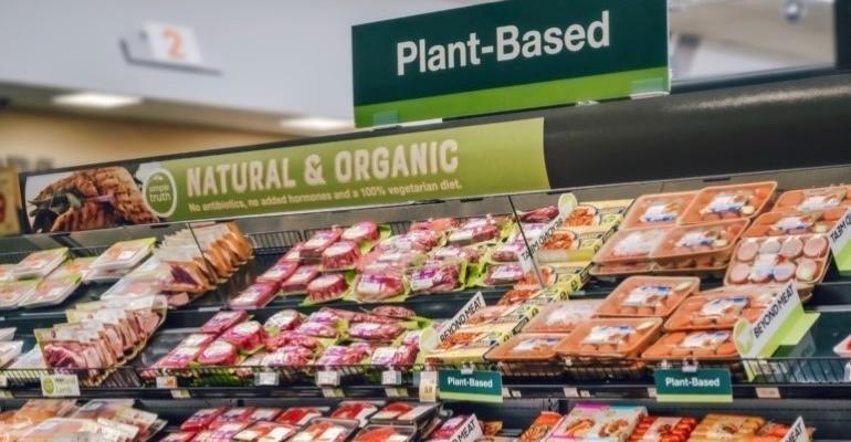 plant-based food display Kroger