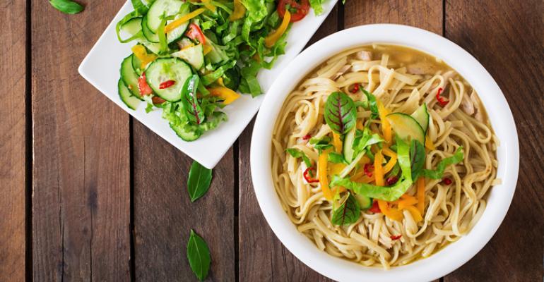 plant-based noodle bowl