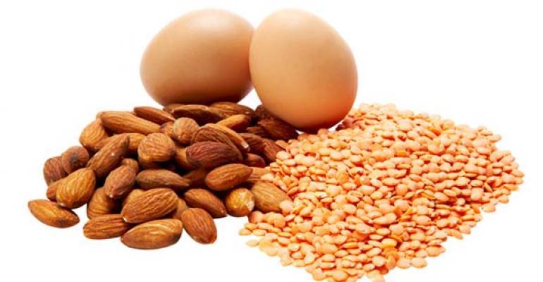 Protein almonds milk seeds