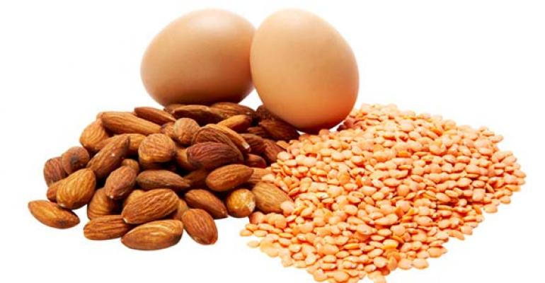 Protein almonds milk seeds