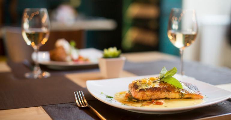 salmon and wine