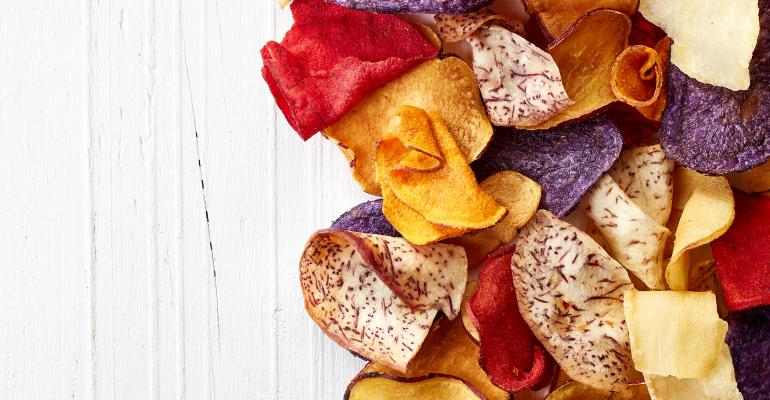 root vegetable chips salty snack trends