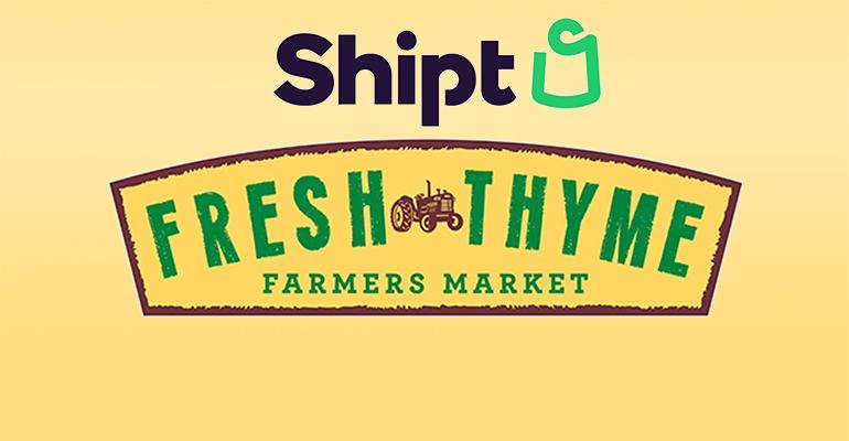 Fresh Thyme contracts with Shipt to deliver groceries to Midwestern consumers