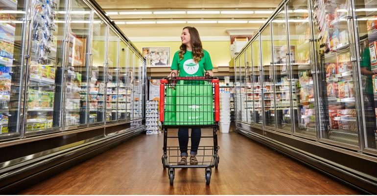 Coronavirus fears are sparking increased use of grocery delivery services