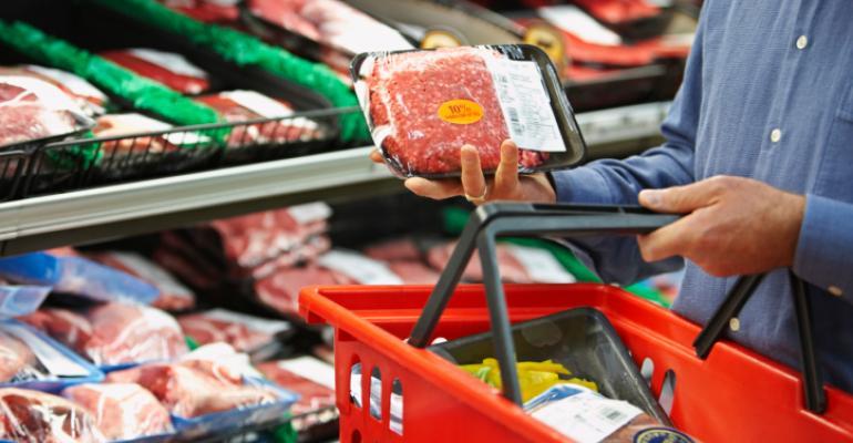 Shopper ground beef meat