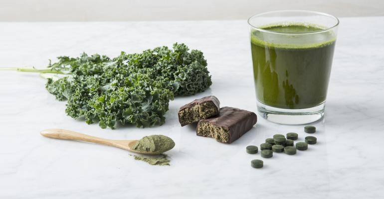 Supplements, kale, green powder, green smoothie, nutrition bar
