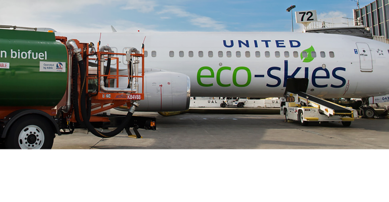 Sustainable fuel powers United jet across the ocean