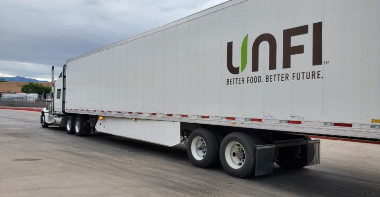 unfi trailer truck