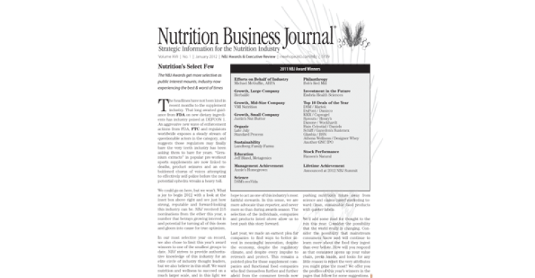 Nutrition's select few: The 2011 NBJ Business Achievement Awards