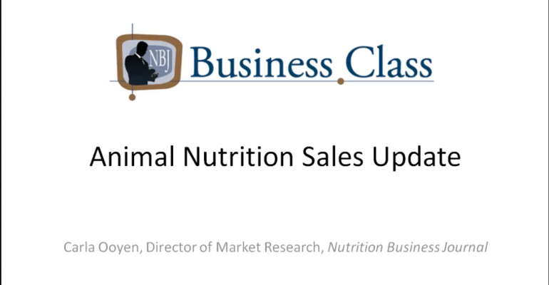 Chapter 1: Animal Nutrition Sales Update