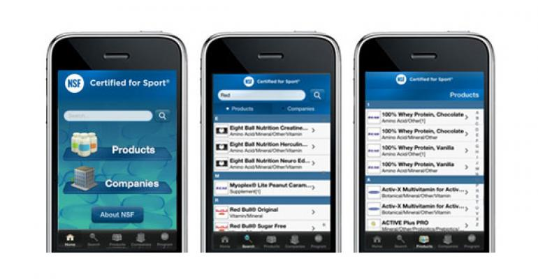 NSF International Certified for Sport app launches amid adulteration controversy