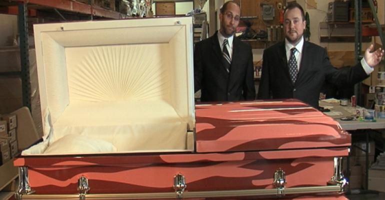 New 'bacon-wrapped' coffin takes pork to the grave